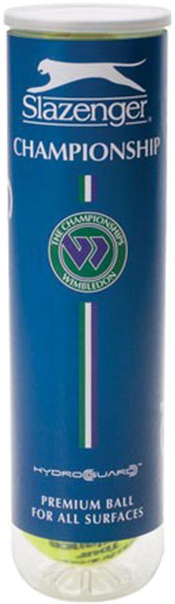 Мячи теннисные Slazenger Championship Hydroguard 4 BALL PET TUBE340824Сочетание первоклассной сердцевины с уникальным технологичным водостойким покрытием Hydroguard дало в результате действительно замечательный теннисный мяч.На 70% более водостойкий, чем обычный мяч, Hydroguard надолго сохраняет свои игровые возможности во влажных условиях. Это ведет к значительному увеличению игрового времени на корте.Одобрен ITF