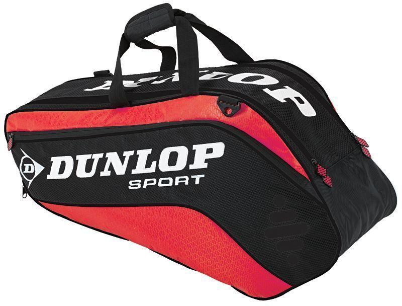 Сумка Dunlop D Tac Pro 6r Therm, на 6 ракеток для тенниса, цвет: красный, черный817174Сумка Dunlop D Tac Pro 6r Therm предназначена для переноски и хранения 6 ракеток для тенниса. Конструкция выполнена из прочного 1680 и 420D полиэстера. Сумка имеет 2 отделения, вмещающие до 6 ракеток, а также изолированное термо отделение и встроенный карман для обуви или мокрых вещей, боковой карман с внутренними отделениями для телефона/плеера, клипсой для ключей и кармашек для ценных вещей. Сумка имеет эргономичные плечевые лямки для удобства переноски.