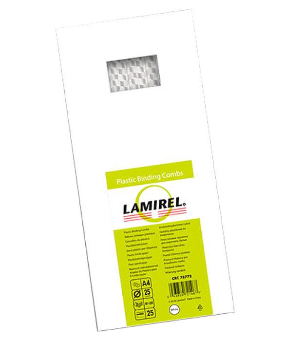 Lamirel LA-78772, White пружина для переплета, 25 мм (25 шт)LA-78772Белая пластиковая пружина Lamirel диаметром 25 мм предназначена для переплета документа 181-200 листов. Пружина надежно удерживает листы в переплете благодаря изготовлению из высококачественного пластика. Подходит для многократного использования.Пластиковые пружины Lamirel поставляется в особо экономичной упаковке по 25 штук с цветной этикеткой.