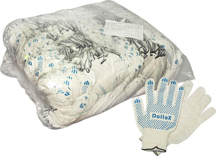 Перчатки защитные DolleX, для ремонта, с покрытием, 10 класс, 200 пар37389Классические защитные перчатки DolleX выполнены из хлопка в 4 нити сточками с ПВХ. Прекрасно подходят для проведения ремонтных и прочих работ, атакже для защиты рук от загрязнений.Особенности: - изготовлены из качественного сырья; - износостойкие; - отлично впитывают влагу; - не жаркие, рука не потеет; - не скользкие; - отлично сидят на руке. Размер: 22Состав: 85% хлопка, 15% полиэфирной нити, ПВХ