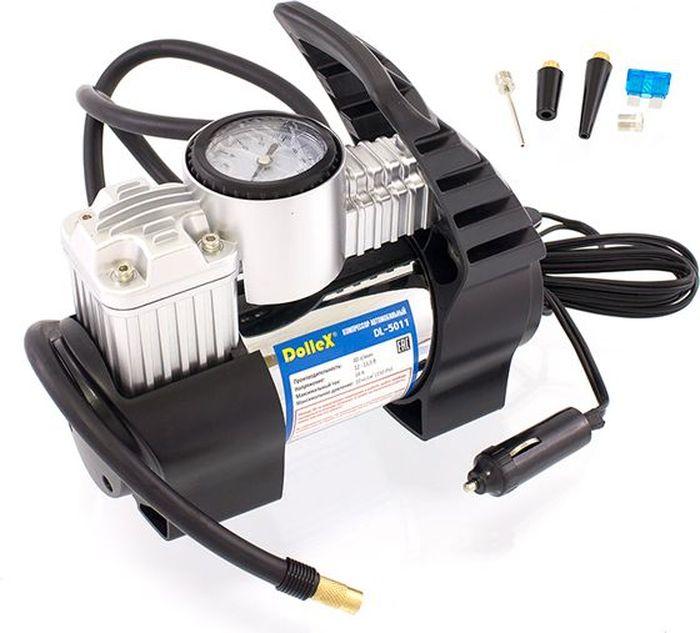 Компрессор автомобильный DolleX, предохранитель, сумка, 12V, 14 A, 150PSI, 40 л/минDL-5011Производительность: 40 л/мин Напряжение: 12-13,5 В Максимальный ток: 14А Максимальное давление: 10 кг/см3 (150 PSI) Алюминиевый корпус, мотор с прямым приводом, в конструкции отсутствуют шестерни, металлические поршень и клапаны, клапан сброса давления на корпусе, низкий уровень шума (69 Дб), брезентовая сумка в комплекте.