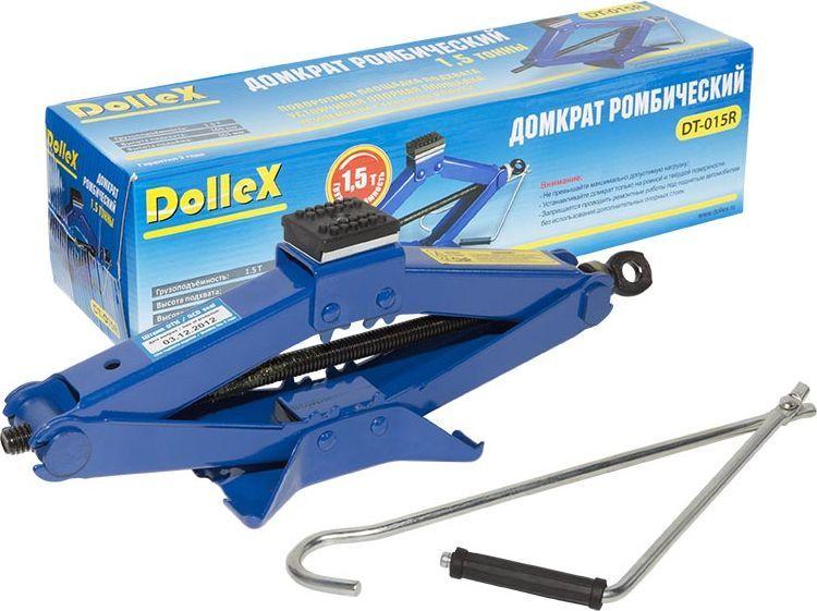 Домкрат ромбический DolleX, 1,5 т, 105-365 ммDT-015R- Грузоподъёмность 1,5 т;- Высота подхвата 105 мм;- Высота подъёма 365 мм;- Поворотная площадка подхвата;- Устойчивая опорная площадка;- Усиленный стальной каркас.