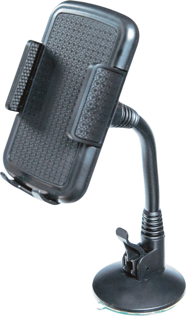 Держатель автомобильный AM, для телефона/навигатора, на лобовое стекло, на гибкой штанге 22 см, цвет: черныйHHG-S-02FKАвтомобильный держатель AM предназначен для надежного крепления телефонов или навигаторов. Особенностью изделия является система крепежа устройства в виде силиконовой присоски, которая устанавливается исключительно на лобовое стекло автомобиля. Такая позиция устройства, а также возможность наклона гибкой штанги обеспечивает водителю высокую видимость устройства при вождении. В комплект входит крепление на дефлектор и площадка для крепления на панель приборов. Длина штанги: 22 смРазворот на 360 градусов.