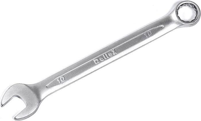 Ключ комбинированный DolleX, 10х10KCE-10- Изготовлен из хром-ванадиевой стали.- Современный дизайн.- Высокая прочность и надежность.- Высокое качество финишной отделки.- Соответствует немецкому стандарту DIN3113.