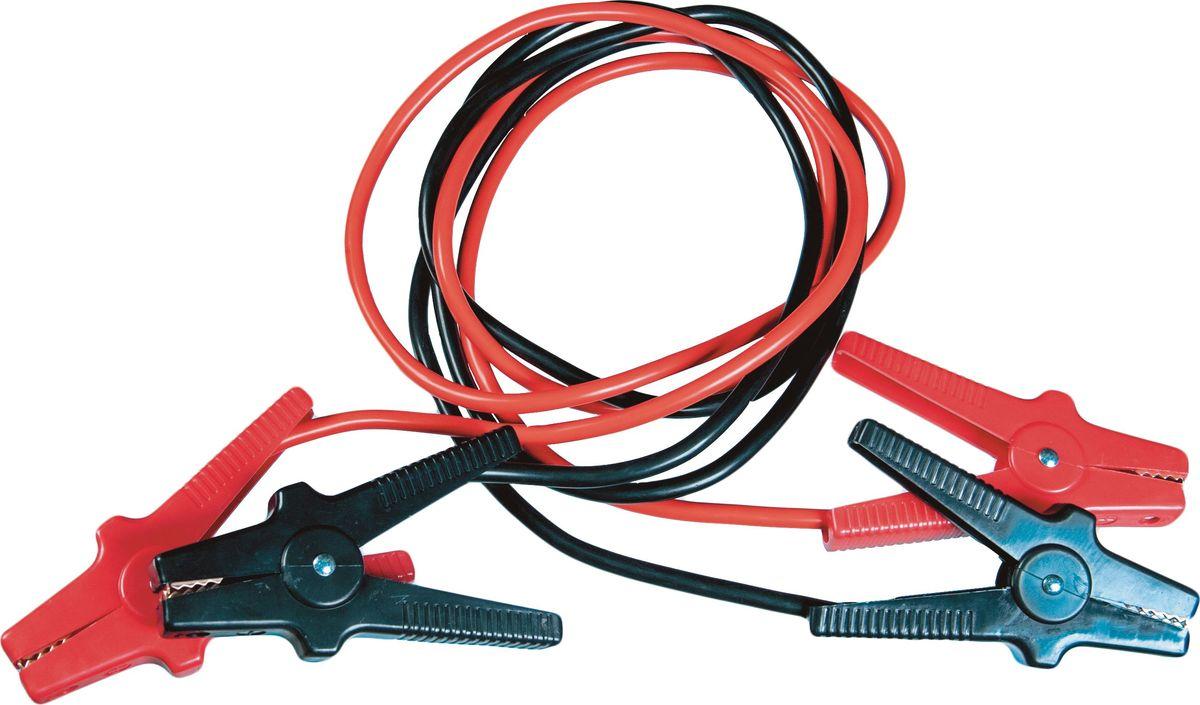Провод вспомогательного запуска AM, изолированные зажимы, морозостойкая изоляция, 400A, 2,5 м, цвет: черный, красныйKSA-400GПровода предназначены для осуществления дополнительной подпитки стартера вавтомобиле с разряженной аккумуляторной батареей или загустевшим от морозамаслом. Применяются для запуска двигателей легковых и грузовых автомобилейпри низкой температуре воздуха в холодное время года, а также последлительного хранения автомобиля, вызвавшего саморазряд аккумуляторнойбатареи. Зажимы изолированные из морозостойкого материала.