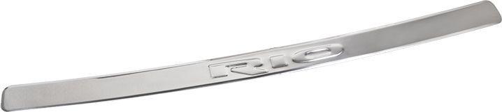 Накладка бампера декоративная DolleX, для KIA RioNBI-006Накладка бампера декоративная DolleX придает автомобилю стильный и неповторимый вид, эффективно защищает бампер от повреждения лакокрасочного покрытия.Подходит для KIA Rio. На накладке присутствует штамп KIA.Отличительные особенности:- Полированная нержавеющая сталь;- Толщина стали 0,5 мм.;- Стильный внешний вид;- Легкая и быстрая установка;- Крепление - лента липкая двухсторонняя.