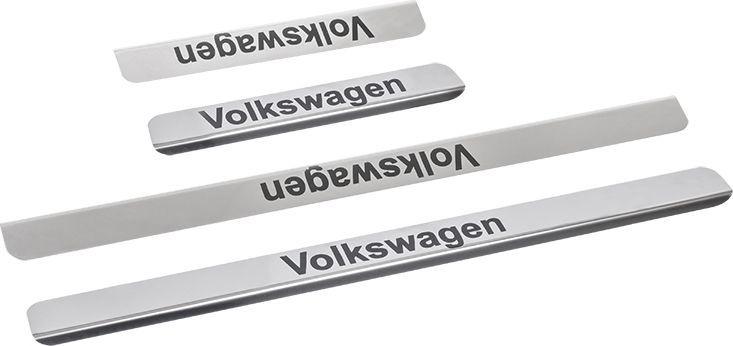 Накладки внутренних порогов DolleX, для Volkswagen Passat B5, B6, B7, 4 штNPK-008Накладки внутренних порогов DolleX придают автомобилю стильный и неповторимый вид, эффективно защищают пороги от повреждения лакокрасочного покрытия. Подходят для Volkswagen Passat. На накладках присутствует штамп Passat.Отличительные особенности:- Полированная нержавеющая сталь- Толщина стали 0,5 мм.- Стильный внешний вид- Легкая и быстрая установка- Крепление - лента липкая двухсторонняяКомплект:размер 450х35мм - 2штразмер 220х35мм - 2шт