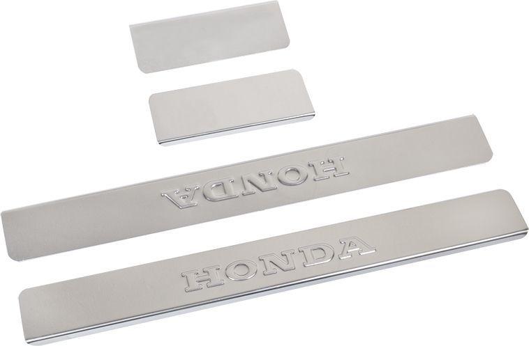 Накладки для порогов DolleX, для Honda CR-V, 4 шт соковыжималки электрические vitek соковыжималка электрическая vitek vt 3651 gy