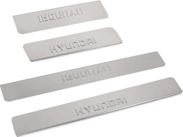 Накладки внутренних порогов DolleX, для HYUNDAI ix55 (2013->), 4 штNPS-011Придают автомобилю стильный и неповторимый вид, эффективно защищают пороги от повреждения лакокрасочного покрытия.Отличительные особенности:- Полированная нержавеющая сталь- Толщина стали 0,5 мм.- Стильный внешний вид- Легкая и быстрая установка- Крепление лента липкая двухсторонняяКомплект:размер 450х61мм - 2штразмер 300х61мм - 2шт