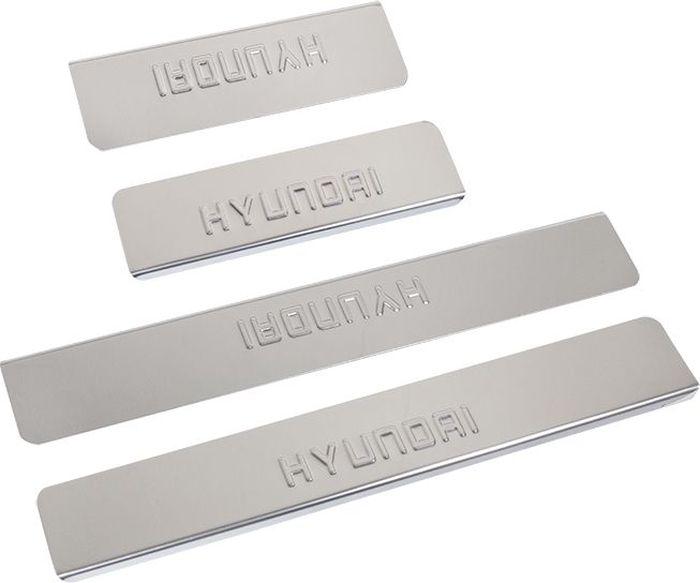 Накладки внутренних порогов DolleX, для HYUNDAI i30 (2013->), 4 штNPS-014Придают автомобилю стильный и неповторимый вид, эффективно защищают пороги от повреждения лакокрасочного покрытия.Отличительные особенности:- Полированная нержавеющая сталь- Толщина стали 0,5 мм.- Стильный внешний вид- Легкая и быстрая установка- Крепление лента липкая двухсторонняяКомплект:размер 550х77мм - 2штразмер 200х77мм - 2шт