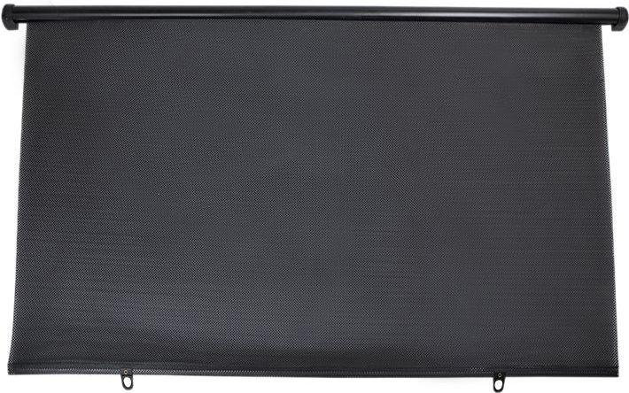 Шторка на заднее стекло DolleX, трапеция, цвет: черный, 100 x 57 смSD-777Шторка на заднее стекло автомобиля DolleX уменьшает нагрев салона, защищает интерьер автомобиля, уменьшает воздействие ультрафиолета. Кроме того, данная шторка не ухудшает обзор. Наличие крепежа в комплекте делает установку легкой и быстрой. Размер: 100 х 57 см. Материал: ПВХ.