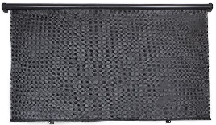 Шторка на заднее стекло DolleX, цвет: черный, 110 x 57 см шторка на заднее стекло dollex на присоске 100 х 50 см