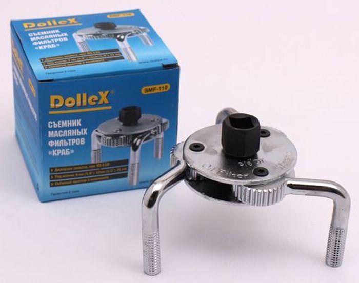 Съемник масляного фильтра DolleX КрабSMF-110Съемник масляных фильтров краб применяется для снятия корпусных масляных фильтров легковых автомобилейдиаметром 65-110 мм.Диапазон захвата, мм: 65-110мм Под ключи 9мм (3/8), 12мм (1/2) и 21мм. Съемный адаптер в комплекте.