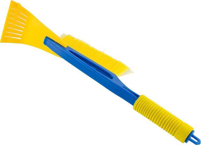 Щетка сметка DolleX, со скребком, 45 смSNW-2201Щетка от снега и льда. Размер: 45 см. Щетина средней жесткости. Удобная конструкция с мягкой ручкой. Скребок для чистки льда. Материал: полипропилен, пластик (abs)