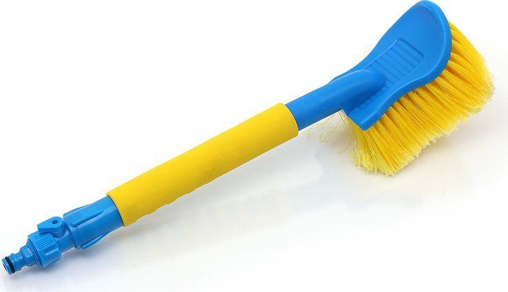 Щетка-сметка DolleX, для мытья автомобиля, под шланг, с краником, 50 смWSH-1910Прочная надежная щетка-сметка DolleX, предназначенная для мытья автомобиля под шланг, выполнена из полипропилена и пластика. Особенности щетки-сметки:- идеально подходит для мытья автомобиля, - возможность подачи воды, - мягкая щетина, - штуцер под универсальный коннектор, - удобная конструкция с мягкой ручкой. - может использоваться в зимний период для очистки от снега. Материал: полипропилен, пластик (abs)Длина: 50 см.