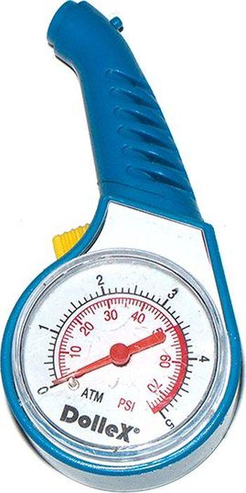Манометр шинный DolleXМSС-05Манометр шинный DolleX стрелочный предназначен для измерения и контроля давления в шинах. - диапазон измерения 0-5Атм/ 0-75 psi.- корпус манометра из ударо-прочного пластика - измеренные показания фиксируются.- оснащен кнопкой сброса.Гарантия 2 года.