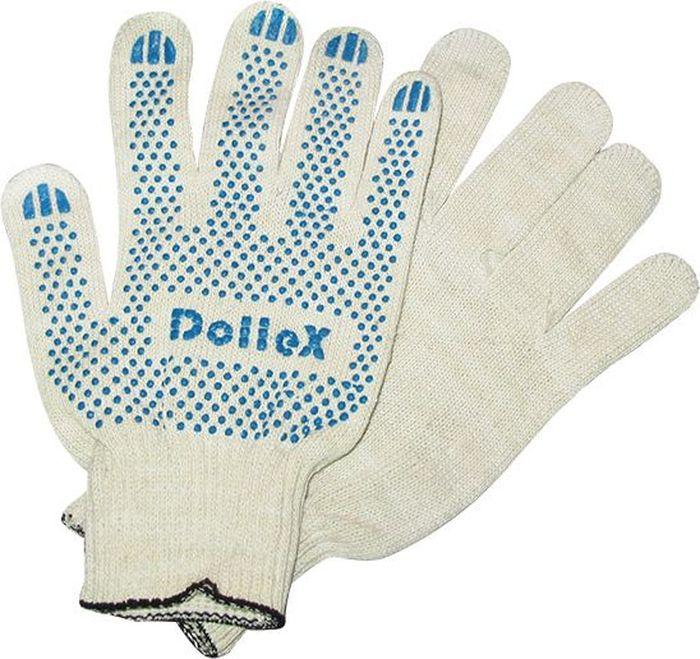 Перчатки защитные DolleX, для ремонта, с покрытием, 10 класс, 1 параPVX-01Классические защитные перчатки DolleX выполнены из хлопка в 4 нити сточками с ПВХ. Прекрасно подходят для проведения ремонтных и прочих работ, атакже для защиты рук от загрязнений.Особенности: - изготовлены из качественного сырья; - износостойкие; - отлично впитывают влагу; - не жаркие, рука не потеет; - не скользкие; - отлично сидят на руке.Состав: 85% хлопка, 15% полиэфирной нити, ПВХ
