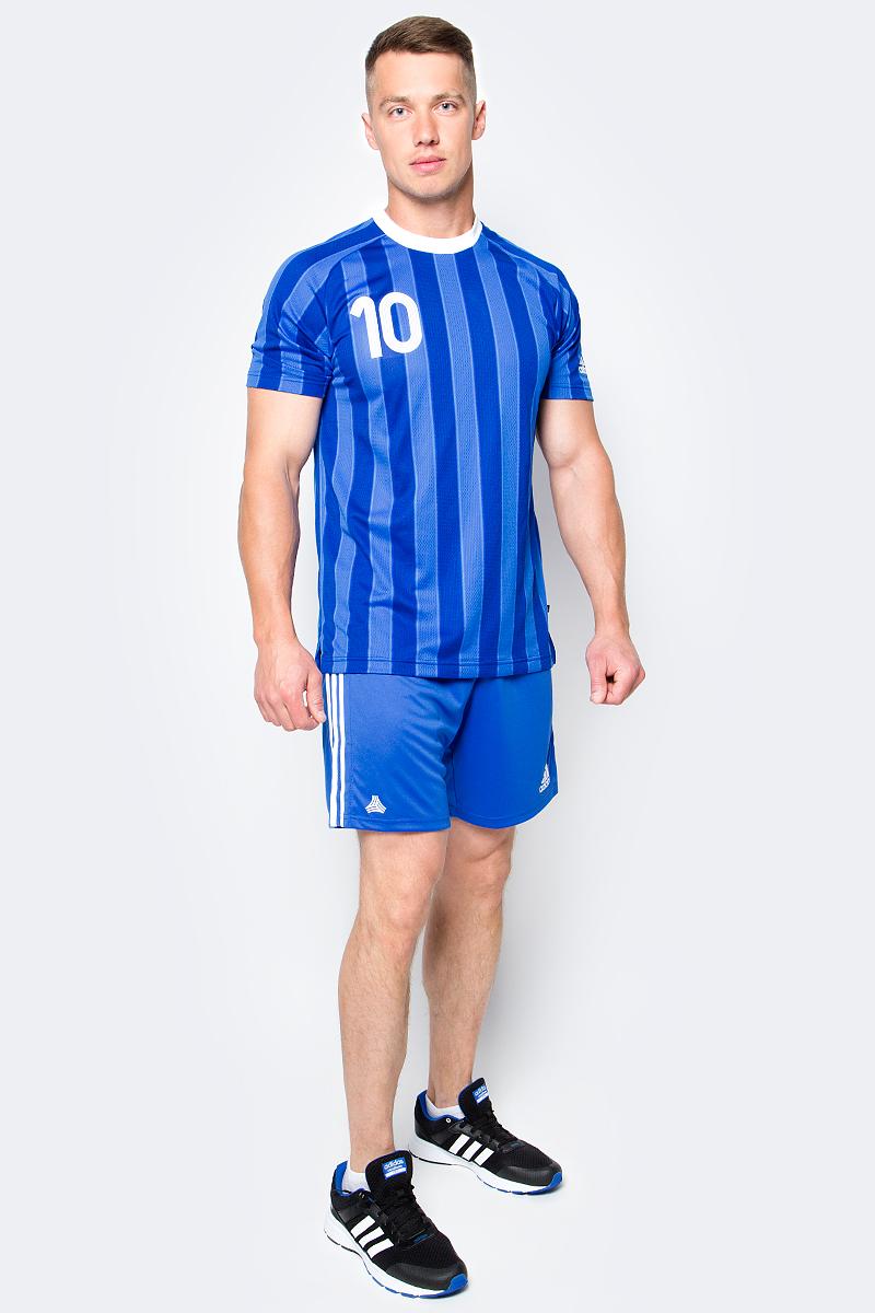 Шорты футбольные мужские adidas Tanc 3S Shorts, цвет: голубой. BK3761. Размер L (52/54)BK3761Шорты футбольные мужские adidas Tanc 3S Shorts выполнены из 100% полиэстера. Прекрасно подходят для интенсивных тренировок.