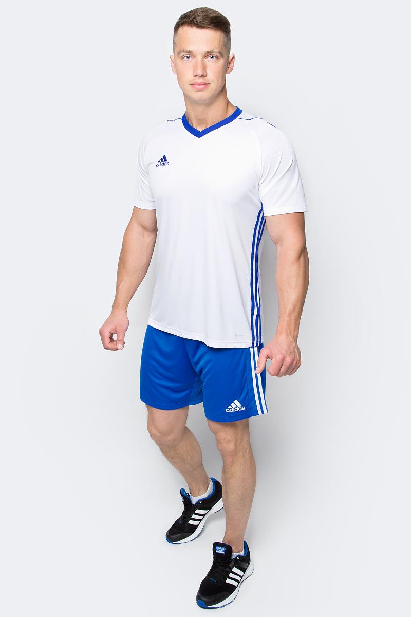 Футболка мужская adidas Tiro 17 Jsy, цвет: белый. BK5434. Размер XL (56/58)BK5434Футболка мужская adidas Tiro 17 Jsy выполнена из 100% полиэстера. Модель с V-образным вырезом горловины и короткими рукавами.