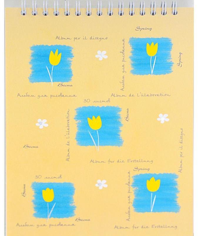 Kroyter Альбом для рисования Времена года 30 листов01949/290663Альбом для рисования Kroyter Времена года формата А5 с цветной картонной обложкой. Состоит из 30 листов офсетной бумаги, закрепленных на спирали. Плотность бумаги — 100 г/кв.м. Благодаря компактным размерам и небольшому весу удобен для детей. Подходит для работы карандашами, тушью, мелками, ручками. Использовать водорастворимые, масляные краски и фломастеры не рекомендуется.