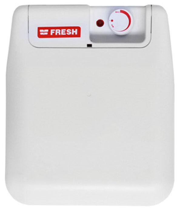 Fresh Small U/S/E 10LT водонагреватель накопительныйFresh SMALL U/S/E 10LTFresh Small U/S/E 10LT - накопительный водонагреватель компактного размера для крепления под мойкой со стеклокерамическим покрытием бака. Компактный плоский пластиковый корпус без острых углов идеально подходит для скрытого монтажа или для мест с малыми габаритами. Простота установки - отличительная черта данной модели. Нагреватель имеет внешний поворотный терморегулятор с функцией включения/выключения.ТЭН с тепловой и токовой защитойУвеличенная площадь нагревательного элементаДлина сетевого шнура: 1 мПатрубки вход/выход: 1/2 дюймаИзоляция: 21 ммВремя нагрева с 15°C до 60°C: 40 минВозвратно-предохранительный клапанРабочее давление: 0,5-8,5 атмСтальной внутренний бакВнутренний ТЭН: стальТип изоляции: Класс 1Как выбрать водонагреватель. Статья OZON Гид