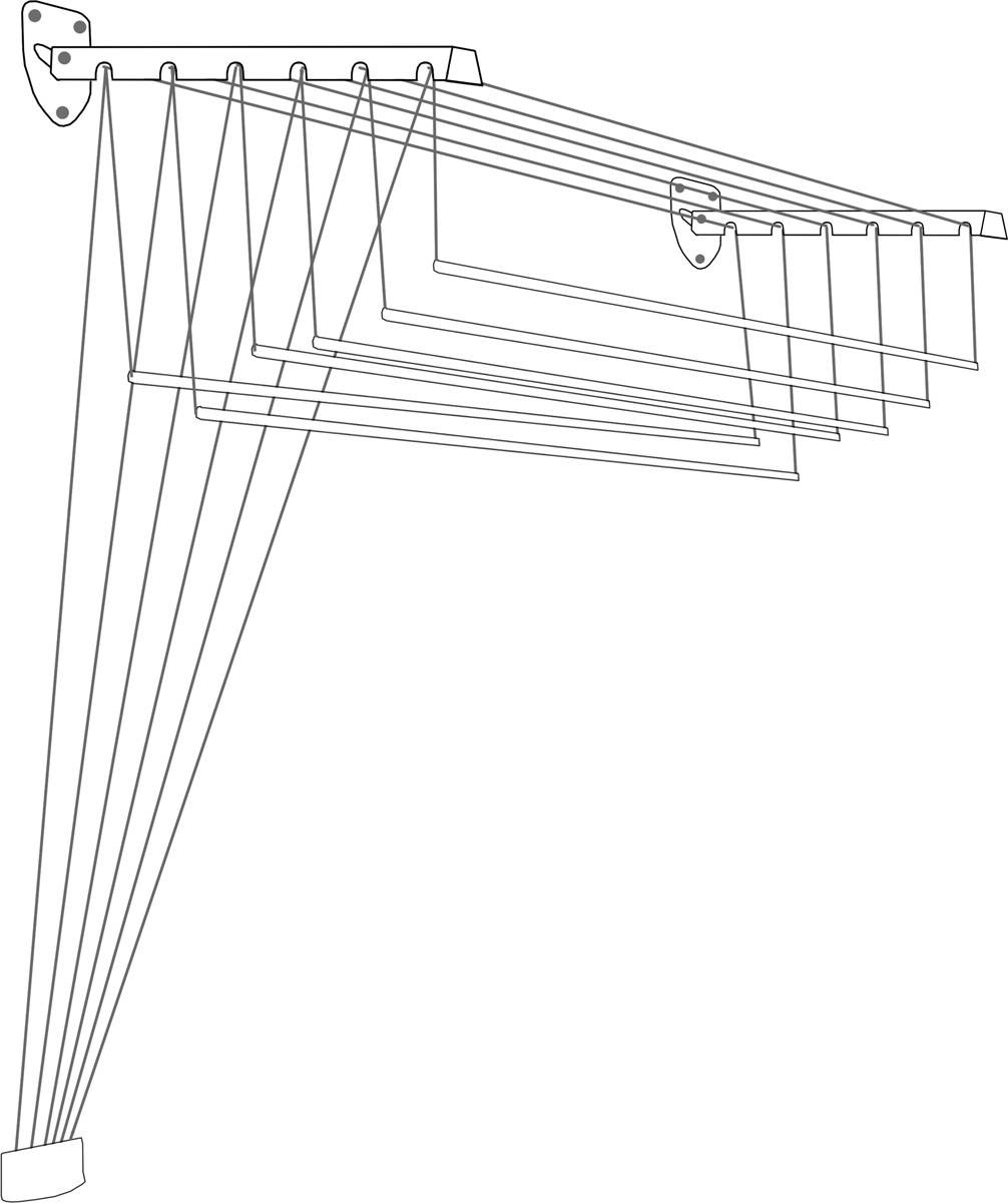 Cушилка для белья ЛакМет  Лифт , настенная, длина 1,5 м