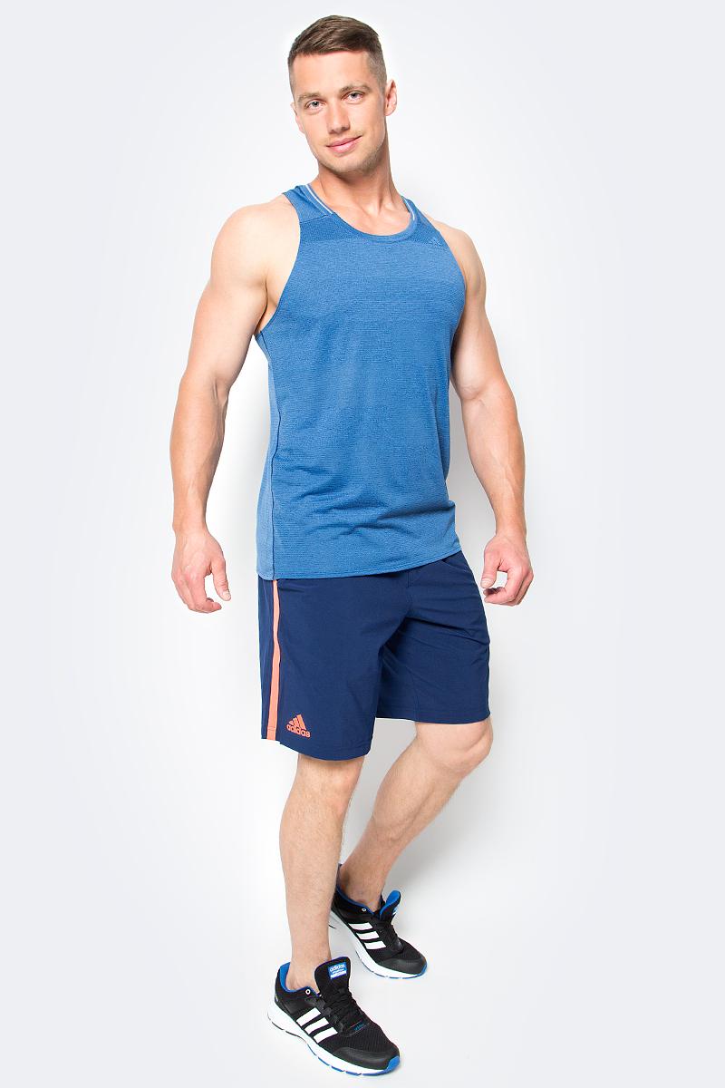 Шорты для тенниса мужские adidas Essex Short, цвет: синий. BJ8766. Размер L (52/54)BJ8766Шорты для тенниса мужские adidas Essex Short выполнены из полиэстера с добавлением эластана. Модель дополнена эластичным поясом и затягивающимся шнурком.