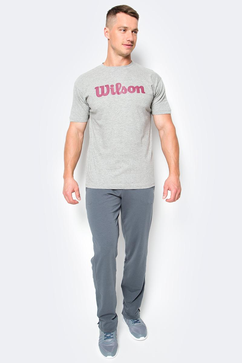 Брюки для тенниса мужские Wilson Rush Knit Pant, цвет: серый. WRA733203. Размер L (52)WRA733203Мужские разминочные брюки Wilson созданы специально для занятий спортом. Благодаря технологичности данная модель подходит для нагрузок любой интенсивности.