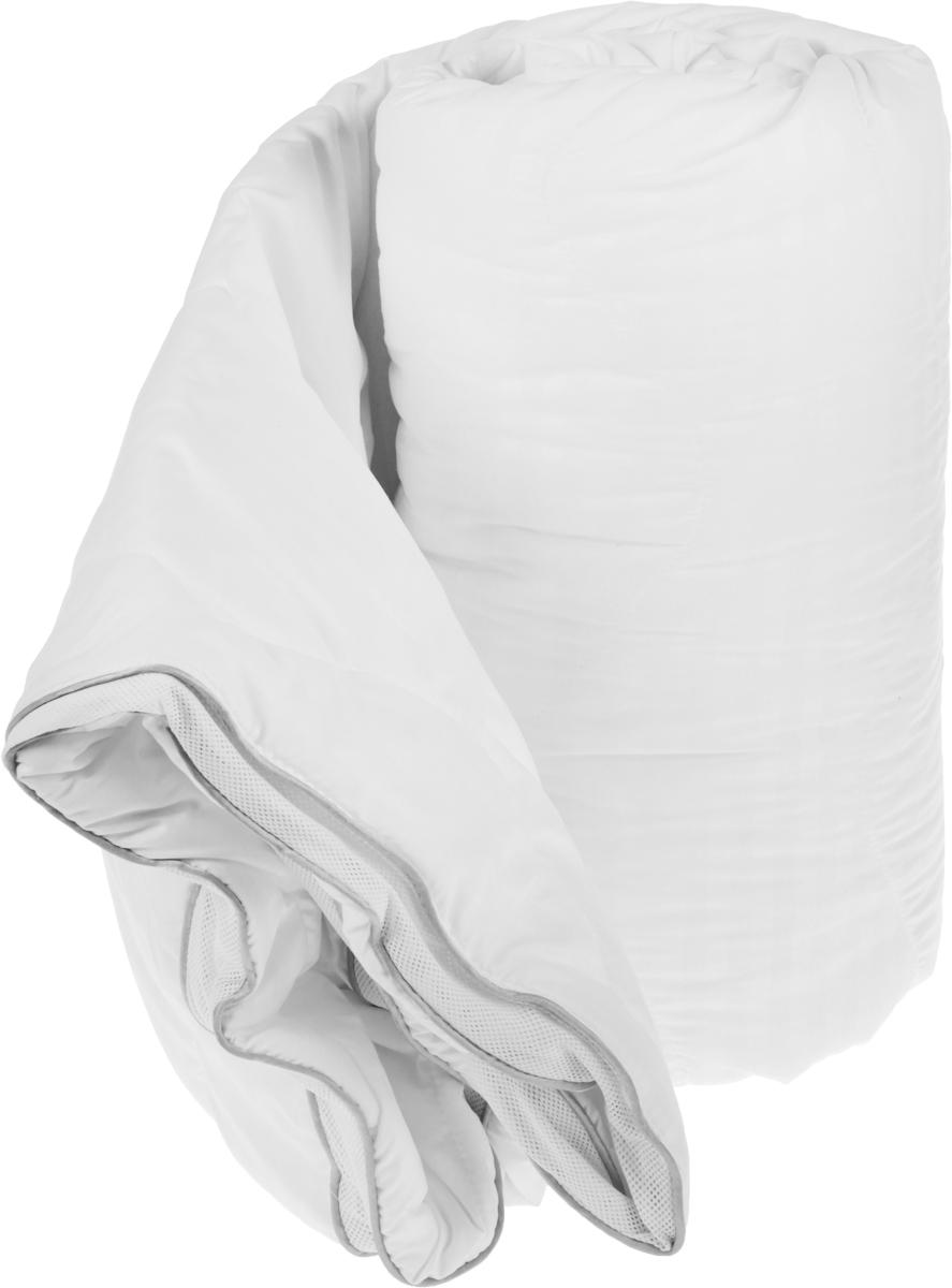 Одеяло Торис Комфорт Люкс, наполнитель: полиэстер, цвет: белый, 140 х 200 смМ.451 140х200Наполнитель одеяла Торис Комфорт Люксвыполнен из полиэстера. Стеганное покрытие из жаккардовой ткани(микрофайбер, 100% полиэстер). Плотное плетение волокон ткани обеспечивает повышенную прочность идолговечность. Ткань не деформируется в процессе эксплуатации, не препятствует воздухообмену и приятна наощупь. Ткань микрофайбер - самый популярный материал для изготовления одеял и подушек. Это искусственное волокнокоторое обладает высокой износоустойчивостью и прочностью, хорошо сохраняет форму, не мнется,гигроскопично.