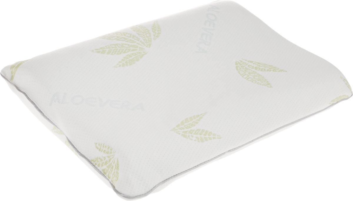 Подушка ортопедическая MagicSleep  Гела Люкс , с эффектом памяти и охлаждающим гелем, цвет: белый, 50 х 35 х 12 см - Ортопедические товары