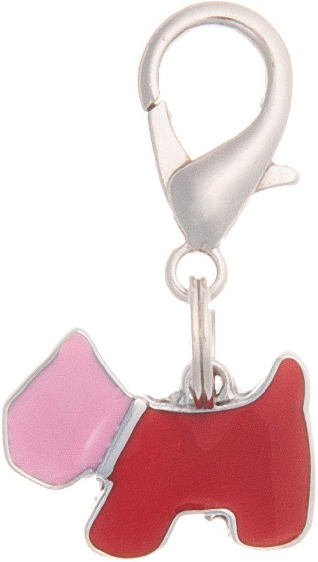 Адресник V.I.Pet Силуэт. Собака, под гравировку, цвет: розовый, красный, 20 х 14 мм адресник v i pet кость круглый малый цвет бежевый 14 мм гравировка