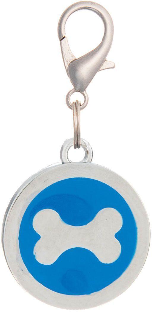 Адресник V.I.Pet Кость, под гравировку, круглый, большой, цвет: синий, диаметр 25 мм19065Адресник V.I.Pet выполнен из цинка и эмали. Адресник - это важное дополнение к любому ошейнику, шлейке или поводку. Разнообразие дизайнов адресников V.I.Pet поможет вам подчеркнуть индивидуальность вашего питомца и оставить на ошейнике полезную информацию.Оригинальный жетон-адресник для собаки или кошки выдержит все приключения вашего питомца.На обратную сторону жетона наносится (гравируется) имя питомца, телефон владельца.