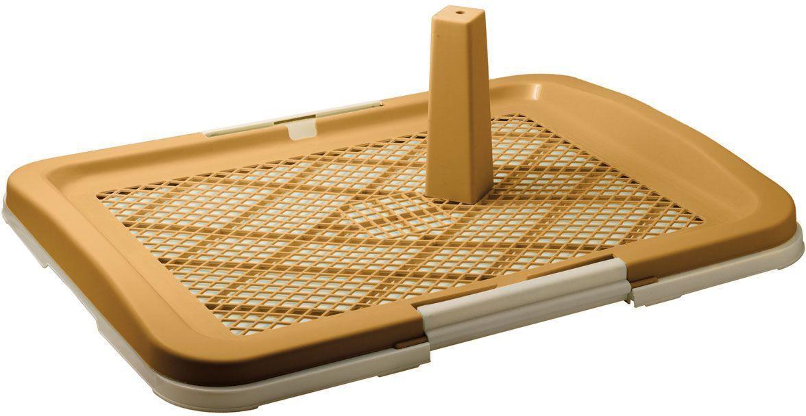Туалет для собакV.I.Pet, со столбиком, цвет: бежевый, 63 х 49 х 6 смP160-07Туалет для собакV.I.Pet предназначен для собак и щенков. Съемный столбик легко крепится на решетку и позволяет применять туалет независимо от пола собаки. Гигиеническая пеленка помещается под решетку, удерживаемую боковыми фиксаторами. Решетка защищает пеленку от погрызов. Туалет легко моется водой.Размер: 63 х 49 х 6 см