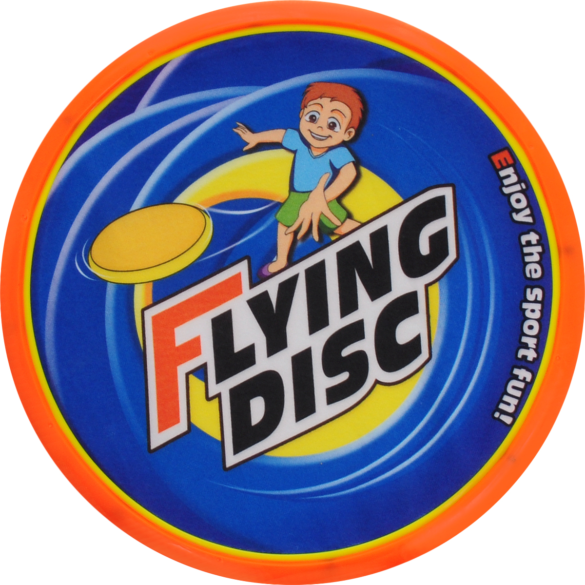 YG Sport Летающая тарелка диаметр цвет оранжевый синий 20 см