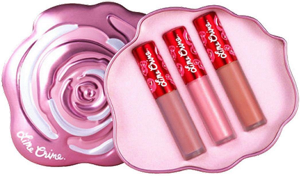 Lime Crime Набор матовых помад для губ Mini Velvetines Pink Rose, 2,7 млL027-03-0000Velve-Tins - подарочные наборы с мини-версиями помад VELVETINES. В каждом трио из матовых и металлических оттенков, включая лимитированные версии. 5 наборов собраны в оригинальных коробочках, символизирующих разноцветные бутоны роз.