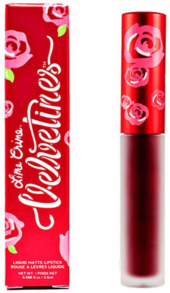 Lime Crime Помада для губ матовая Velvetines Wicked, 2,6 мл жидкая помада lime crime lipstick velvetines wicked цвет wicked variant hex name 800000