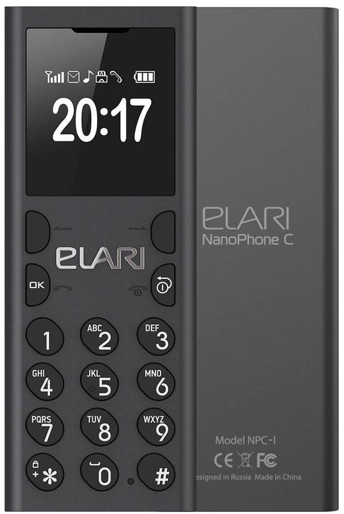 Elari NanoPhone C, BlackT035477Забудьте про информационный шум и наслаждайтесь моментами без соцсетей и мессенджеров, принимайте или делайте звонки через смартфон без облучения, развлекайте друзей смешным голосом по второму номеру, записывайте лекции и телефонные разговоры на карту microSD, слушайте музыку и FM-радио!С NanoPhone C вы больше не рискуете своим здоровьем - излучение от его Bluetooth-модуля существенно меньше, чем от модуля связи вашего смартфона.NanoPhone C настолько миниатюрен и легок, что его можно носить на шее как аксессуар, используя идущий в комплекте изящный ремешок.Для входящих или исходящих звонков вы можете включить забавный режим Волшебный голос. Он меняет ваш голос до неузнаваемости: разыгрывайте друзей, разговаривая с ними мужским басом, женским сопрано, или детским фальцетом!С NanoPhone C вы точно не заскучаете: в устройстве предусмотрен MP3-плеер с возможностью создания плейлистов, FM-радио и диктофон с функцией записи телефонных разговоров.Разговаривайте по громкой связи, слушайте музыку, радио, диктофонные записи через встроенный спикер, проводную (вкомплекте) или беспроводную гарнитуру либо колонку по Bluetooth.Вы можете назначить на рингтон Nano C любимую музыкальную композицию или любой другой MP3-файл. Выбор - за вами!Подключите к своему смартфону NanoPhone C по Bluetooth, получите полный доступ к телефонной книге своего основного мобильного устройства и используйте Nano C для общения - телефон-гарнитура без какой-либо дополнительной настройки увидит все ваши контакты.Можно пойти еще дальше - переставить в NanoPhone C свою основную SIM-карту, а смартфон оставить дома. В этом случае вы можете легко перенести до 1000 ваших контактов в память Nano C и, оставаясь на связи для звонков и SMS, получать удовольствие от реальной жизни.Вариант для самых требовательных: установите в NanoPhone C дополнительную SIM-карту, подключите его к своему смартфону по Bluetooth и наслаждайтесь свободой. Вы сами можете выбрать, какой номер использовать дл