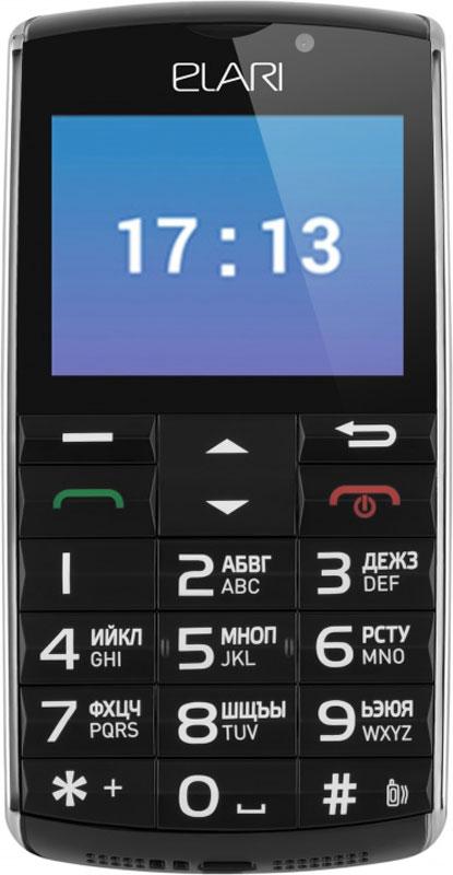 Elari SafePhone, BlackT034342Elari SafePhone – надежный и практичный телефон, который не подведет в любой ситуации!Адаптированная ОС Android ограничивает установку сторонних приложений – владелец телефона полностью защищен от троянов и вирусов. Яркий сенсорный экран придется по душе молодежи, а приверженцы классических звонилок оценят клавиатуру: большие кнопки легко нажимаются даже вслепую, а буквы и цифры нанесены на них крупно – отличный вариант для людей с плохим зрением. Не нужен избыточный функционал смартфона? Elari SafePhone – для вас! В нем уже предустановлено все необходимое: браузер, камера, WhatsApp, органайзер, калькулятор и многие другие. Устройство позволяет принимать и отправлять изображения, голосовые сообщения и видеоролики, бесплатно совершать аудио- и видеозвонки по WhatsApp. Специально для любителей активного образа жизни в Elari SafePhone встроен шагомер, показывающий пройденное за день расстояние и потраченные калории в предустановленном приложении Здоровье. Попросить о помощи владелец Elari SafePhone может за секунду – достаточно просто нажать на кнопку SOS, расположенную на обратной стороне устройства. Телефон начнет проигрывать громкий звуковой сигнал, а родственник пользователя получит на свой смартфон сигнал бедствия с координатами устройства (номер телефона человека, принимающего сигнал SOS, указывается в настройках устройства). Геопозицию владельца Elari SafePhone можно узнать с помощью бесплатного приложения Wherecom. В телефоне установлен модуль GPS/LBS/WiFi-трекинга, максимально точно определяющий координаты устройства на картах Google (функцию можно отключить). Elari SafePhone поддерживает обновление встроенного ПО по воздуху. Для получения свежей версии операционной системы достаточно подключения к интернету – можете забыть о проводах и синхронизации с компьютером! Elari SafePhone оборудован емким аккумулятором, обеспечивающим до 5 часов работы в режиме разговора и до 10 дней – в режиме ожидания.Отдельная кнопка SOS для вызова помо