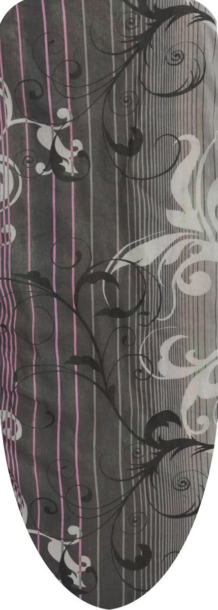 Чехол для гладильной доски Eva, цвет: розовый, серый, 129 х 45 смЕ1303_розовый, серыйЧехол для гладильной доски Eva Цветы выполнен из хлопчатобумажной ткани с поролоновой подкладкой. Чехол предназначен для защиты или замены изношенного покрытия гладильной доски. Чехол снабжен прочной резинкой, при помощи которой вы легко зафиксируете его на рабочей поверхности гладильной доски.Размер чехла: 129 см х 45 см. Максимальный размер доски: 120 см х 38 см.