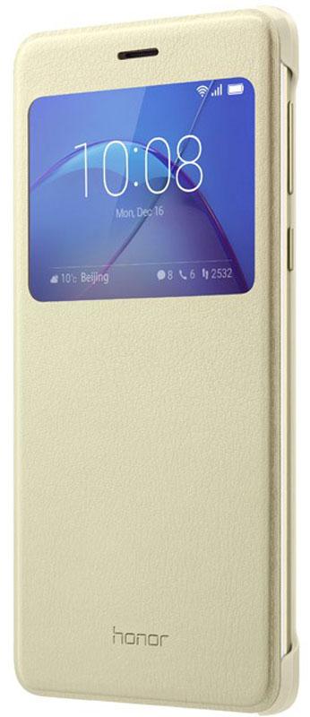 Huawei Smart Cover чехол для Honor 6X, Gold51991740Чехол Huawei Smart Cover из искусственной кожи создан специально для смартфона Honor 6X. Он идеально повторяет контуры устройства и обеспечивает ему надежную защиту при падениях. Чехол приятен на ощупь, не скользит в руках и не утяжеляет конструкцию: с ним смартфон сохранит внешний вид и будет защищен от сколов и царапин.