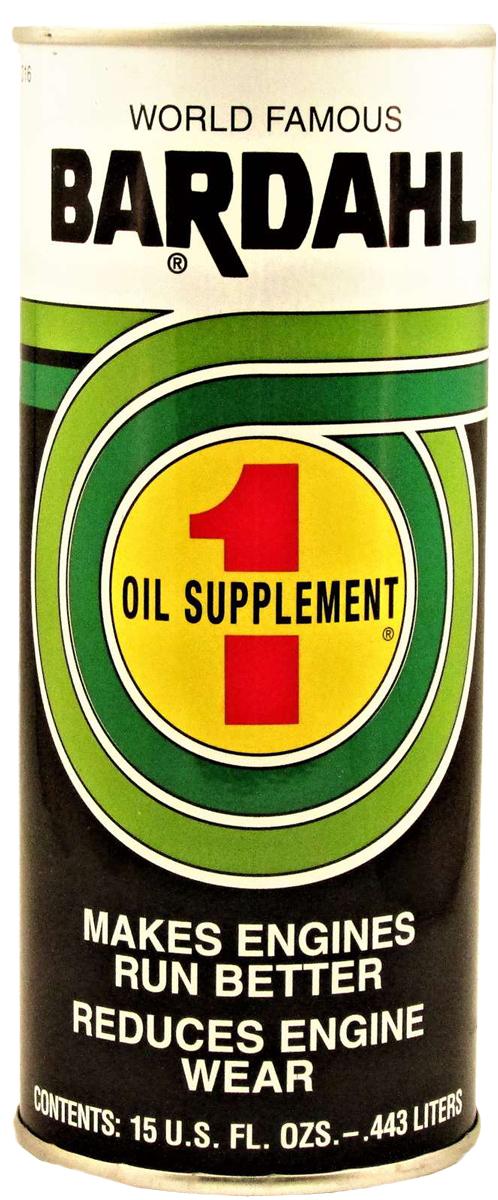 Присадка профилактическая Bardahl B1 Oil Supplement, в моторное масло, 443 мл. 10161016Bardahl B1 является уникальным фирменным концентратом полярных органических соединений и веществ, противостоящих экстремальным давлениям. Эти химикаты образуют молекулярную пленку, прочно связанную с поверхностью металла, которая не выгорает и не соскабливается даже при высоких давлениях и температурах в современных двигателях. Пленка остается на месте и не стекает после остановки двигателя. Такая защита выполняет несколько функций:- уменьшает износ путем сглаживания микроскопических пиков и впадин на поверхности металла, которые вызывают трение и, следовательно, снижается выделяемое тепло;- очищает отложения, разрывая и смывая лак и углерод, помогая затем предотвратить дальнейшее образование отложений и коррозию;- улучшает смазку подшипников, кулачков и поршней, увеличивая их срок службы;- освобождает залипшие клапаны, кольца и гидротолкатели;- облегчает запуск двигателя, увеличивает эффективность и производительность, эксплуатационные расходы сокращаются;- увеличивается ресурс двигателя, а затраты на техническое обслуживание снижаются.