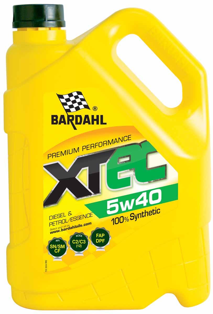 Масло моторное Bardahl XTEC, синтетическое, 5W-40, 5 л36343Специальное синтетическое масло премиум класса, разработано для бензиновых и дизельных двигателей последнего поколения, оснащенных системами очисти выхлопных газов, которые требуют использования масла LOW-SAPS (с низким содержанием золы, фосфора и серы). Благодаря уникальной формуле, продукт имеет высокую вязкость HTHS и обеспечивает экономию топлива. Этот продукт обеспечивает высочайшую производительность, отличные противоизносные свойства, высокую текучесть при низких температурах и сохраняет стабильную вязкость при ее росте. Идеально для спортивного стиля вождения, благодаря высокой концентрации Polar Plus - Fullerene C60, значительно увеличивает производительность двигателя, защищая его от износа и коррозии. ACEA C3 API SM-CF OEM MB 229.51-226.5 / BMW Longlife 04/VW502.00-505.01 /Ford WSS-M2C917A / Renault RN0700-RN0710 / GM dexos 2 / Porsche А40