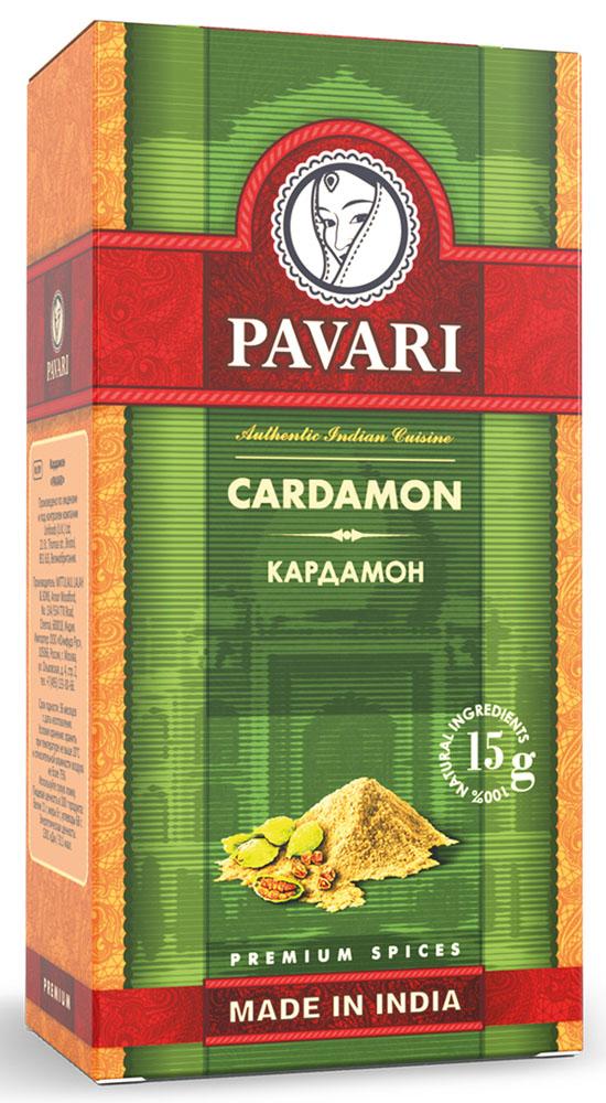Pavari Cardamon кардамон, 15 г32212Идеально подойдет для приготовления блюд из мяса. Также добавит особый аромат сладкой выпечке и десертам, глинтвейну, чаю и другим согревающим напиткам.