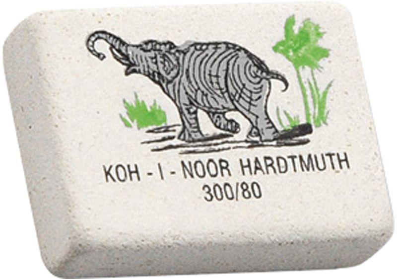 Koh-I-Noor Ластик Elephant 300/800300080018KDRUЗнаменитый ластик Koh-I-Noor Elephant со слоном. Мягкий ластик для чернографитных карандашей и чернил. Не повреждает бумагу, обеспечивает чистое и аккуратное стирание. Идеально стирает следы мягких, средних и твердых карандашей на любой поверхности. Изготовлен из натурального каучука.