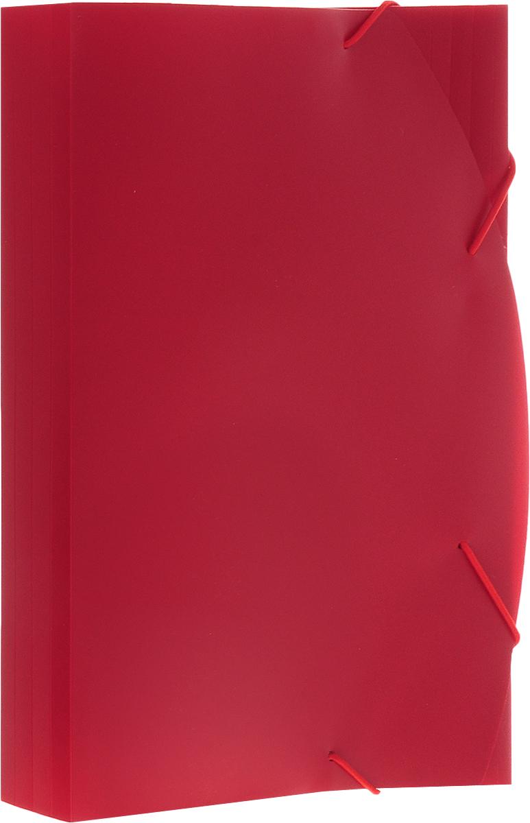 Albion Папка на резинках Basic цвет красныйAL10909Папка Albion Basic изготовлена из полужесткого пластика высокого качества. Предназначена для транспортировки и хранения документов формата А4.Имеет три клапана. Толщина папки легко регулируется при помощи дополнительных насечек на всех клапанах.Папка - это незаменимый атрибут для любого студента, школьника или офисного работника. Такая папка надежно сохранит ваши бумаги и сбережет их от повреждений, пыли и влаги.