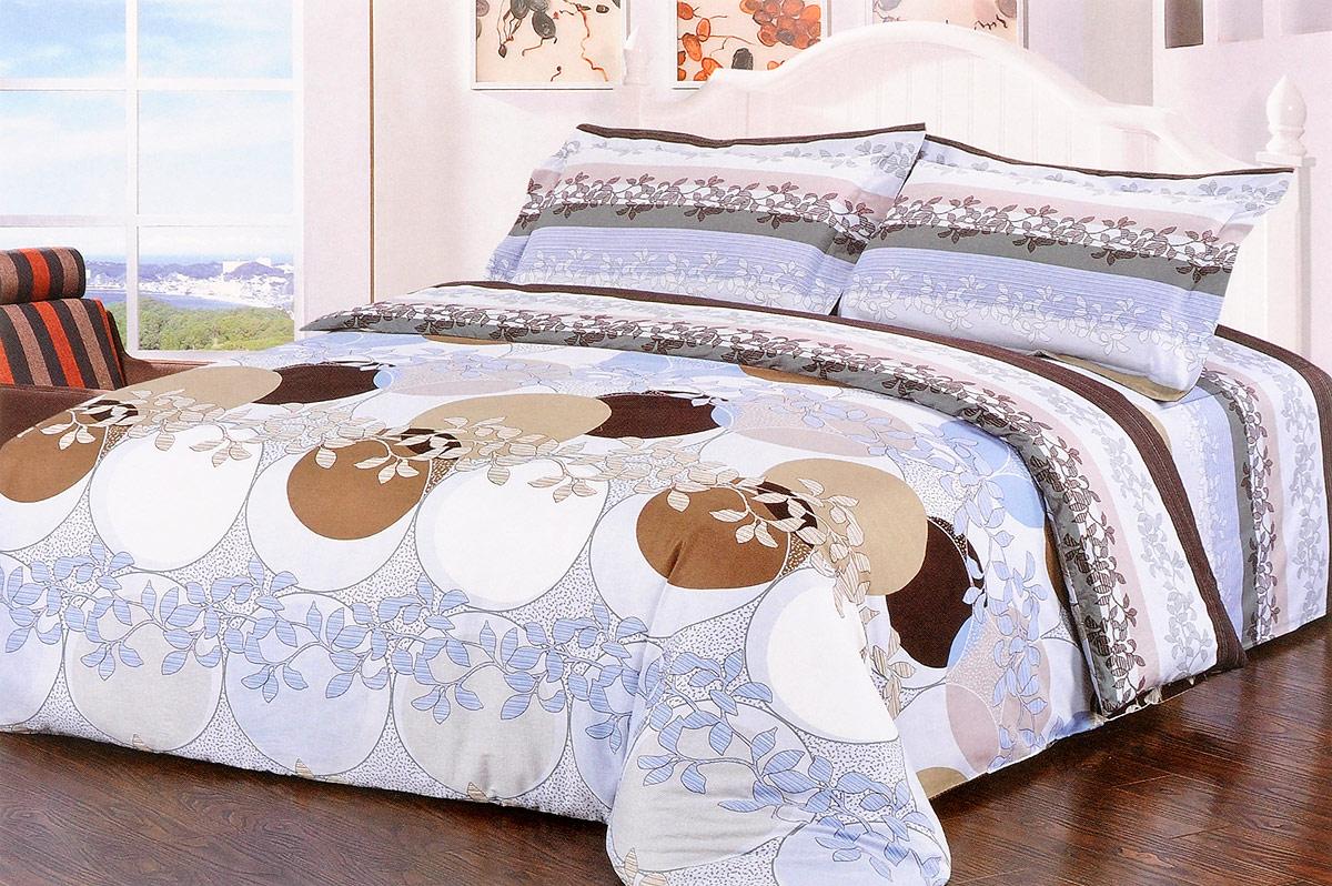 Комплект белья 10373 (2-спальный КПБ, сатин, наволочки 50x70)