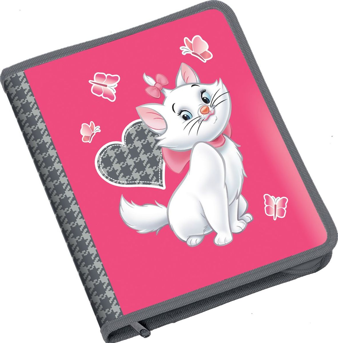 Disney Папка Cat Marie формат B539707Пластиковая папка на молнии Disney Cat Marie формата B5 защищает тетради, рисунки и документы от повреждений, пыли и влаги. Удобна для транспортировки и передачи документов. Надежная застежка-молния обеспечивает легкий и быстрый доступ к бумагам.