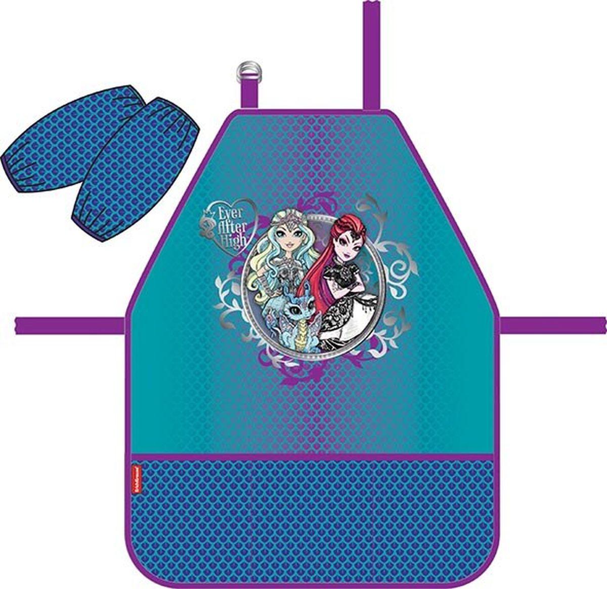 Mattel Фартук детский Ever After High Dragon Game с нарукавниками42284Фартук для детского творчества с нарукавниками. Нарукавники на липучках-фиксаторах. Легкая ткань с водоотталкивающей пропиткой. Фартук дополнен тремя кармашками.