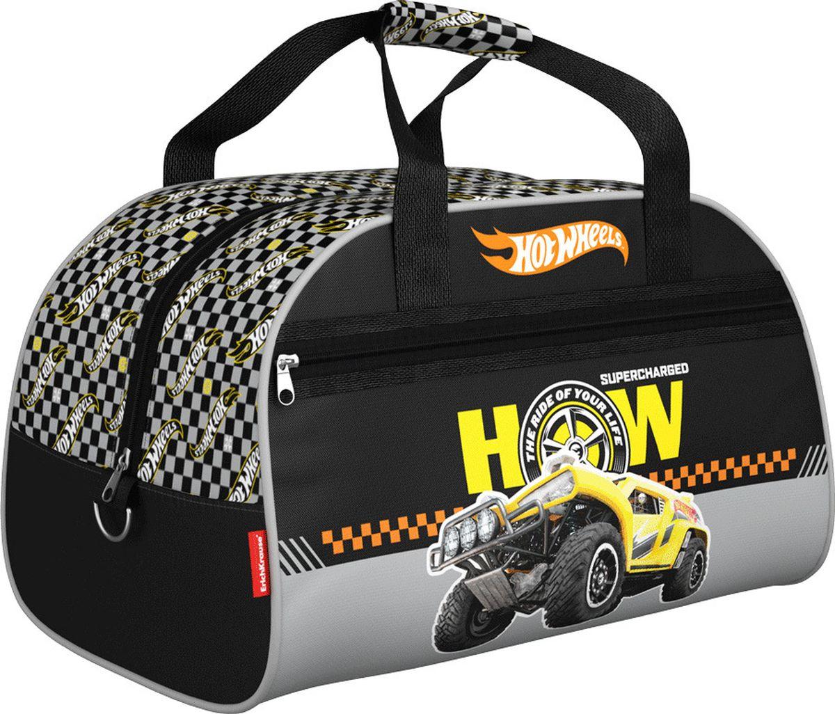 Mattel Сумка для сменной обуви Hot Wheels Big Foot 4243042430Детская сумка Mattel предназначена для спортивных вещей. Сумка выполнена из водонепроницаемого материала и имеет одно основное отделение, закрывающееся на молнию.Ручки на липучке, снаружи имеется карман на молнии.