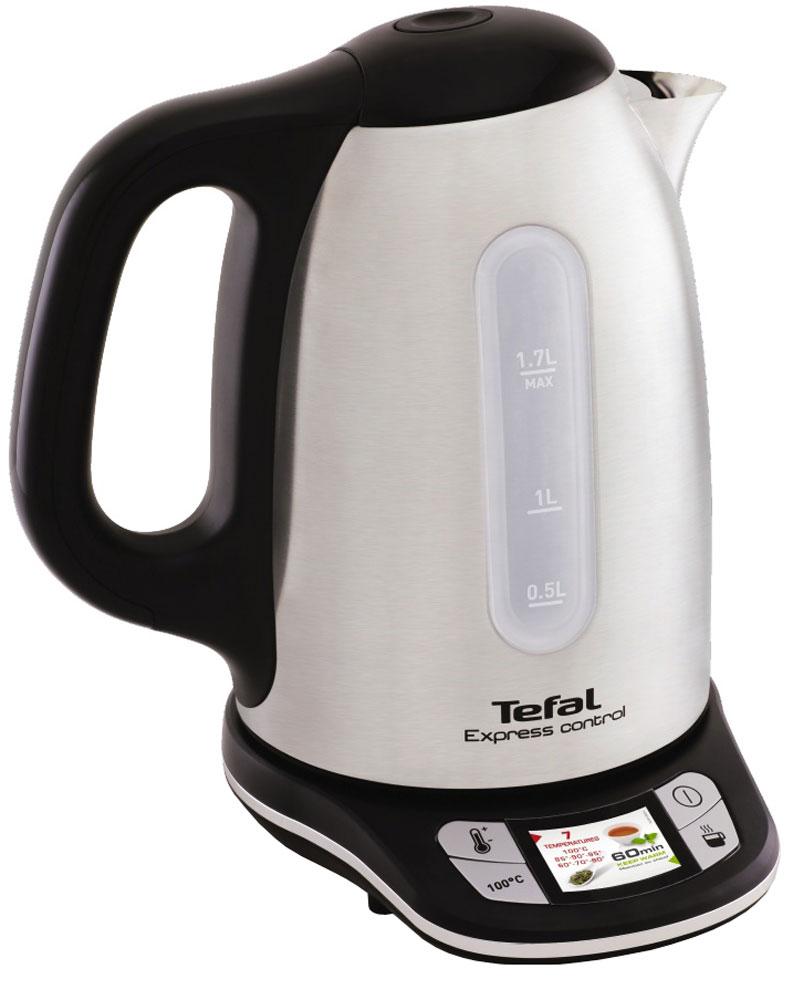 Tefal KI240D30 чайник электрическийKI240D30Tefal KI240D30 - это незаменимый и превосходный помощник для настоящих любителей чая.Благодаря уникальной системе сенсорного управления в подставке чайника вы можете установить необходимую температуру для каждого сорта чая - нажатием всего одной кнопки выберите один из семи подходящих режимов от 60° до 100°.Высокая мощность чайника быстро вскипятит до 1,7 л воды и будет поддерживать выбранную температуру в течение 1 часа благодаря функции Keep Warm.Скрытое расположение нагревательного элемента под дном из нержавеющей стали обеспечивает равномерный нагрев воды и защиту от известкового налета. А в вашу чашку накипь не попадет благодаря надежному съемному фильтру, который легко мыть под водой.Наслаждайтесь каждым сортом чая так, как это предписывают традиции, вместе с Tefal.